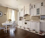White kitchen in the style of a Provence