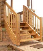 Лестница к дому – наружные лестницы в частном доме из дерева, фото