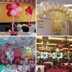 Оформление зала гелевыми шарами – Оформление зала шарами: самые простые способы украшения