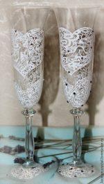 Свадебные стаканы – Бокалы свадебные — купить в интернет-магазине на Ярмарке Мастеров с доставкой
